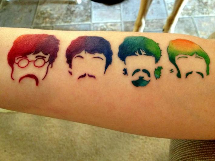 Beatles colored