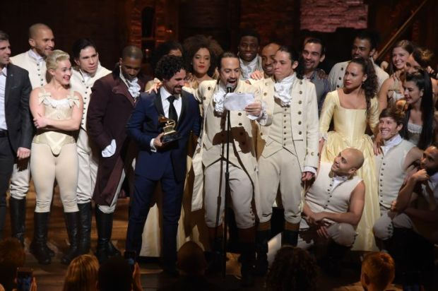 Hamilton cast (photo by Theo Wargo)