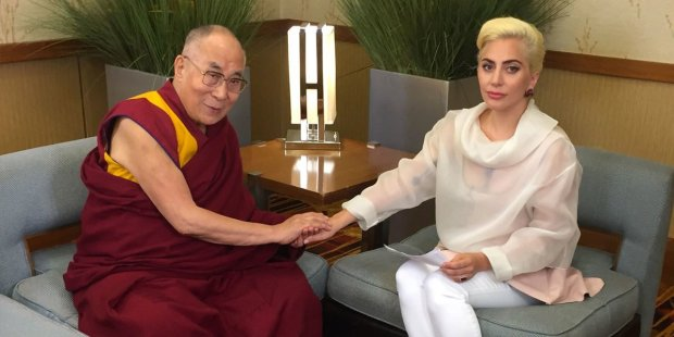 Lady Gaga meets the Dalai Lama