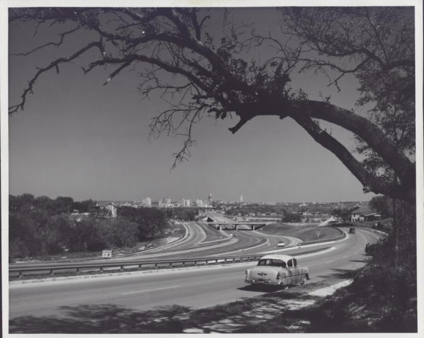 I-35, circa 1960s (photo via Austin History Center)