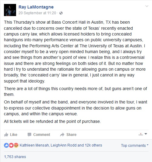 Ray Lamontagne via Facebook